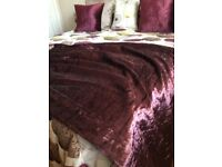 Plum velour curtains size 66x54