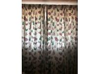 90 x 90 butterfly curtains