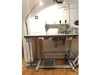 WIMSEW Industrial Sewing Machine Free bobbins + case + trimming scissors+ floor lamp
