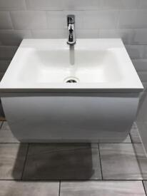 Bathstore Cisco wall unit and basin