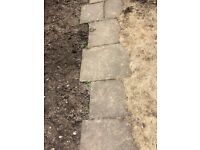Paving slabs - garden, concrete, various sizes, free - ready for collection