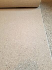Carpet Off Cut Biscuit Colour 5.5m x 85 cm