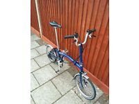 Brompton M6L (6 speed) Cobalt Blue 2014 folding bike (great condition)