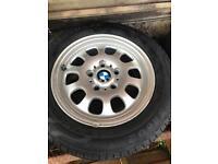 BMW Alloys wheel and tyres set of 4