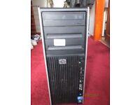 HP Z400 Computer Quadcore Workstation Xeon 2.66 Ghz 10GB Ram Quadro FX380 500GB Win 7 & Win 10