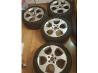 VW Volkswagen Golf mk5 gti monza alloy wheels 17inch with tyres