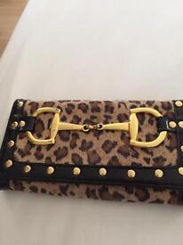 River island Leopard print ladies purse .