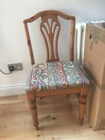 Two wooden chairs for sale