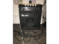 Ibanez 20 watt amplifier for guitars, bass, mic and percussion