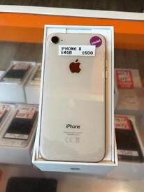 BRAND NEW, iPhone 8, white and rose gold, unlocked, 64gb