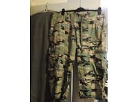 Camo trousers size 14