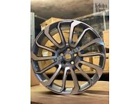 """22"""" RANGE ROVER TURBINE ALLOY WHEELS LAND ROVER DISCOVERY VOGUE SPORT"""
