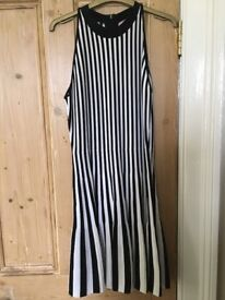Black and white sleeveless fit and flare Ten Baker dress, size 2 (equivalent to uk 10)