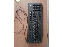 Black Logitech USB Keyboard (UK)