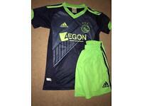 Ajax FC football shirt and shorts.