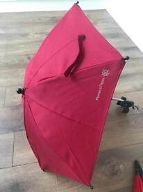Mamas and papas red uv protection buggy parasol