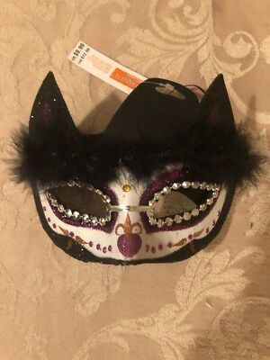 Cat Mask Kitty Sequin Costume - Dress Up - Mardi Gras - Halloween Accessories (Kitty Costume Accessories)