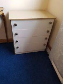 Retro 4 drawer chest