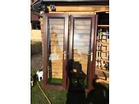 French Doors Rosewood in and out