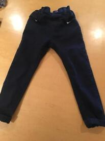 Boys dark blue jeans/ chinos age 4-5 years