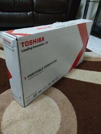 Toshiba Satellite Intel i3, AS NEW, ORIGINAL BOX, MS OFFICE, Fast Processor, Hardly Used Laptop