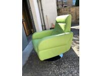 Leather chair Green