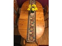 Dining Table - (Pine wood) - with 6 chairs