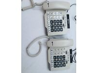 Two Telephone handsets ~ geemarc photophone 100
