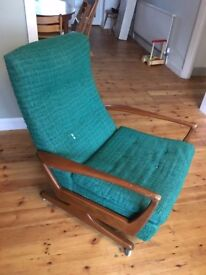 Vintage Parker Knoll reclining armchair in original condition