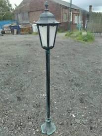New Garden outside street lamp