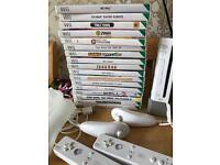 Nintendo Wii Boxed With 17 Games