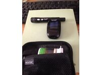 Accu-Chek blood glucose meter/monitor with fastclik lancing device and carry case