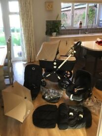 Bugaboo Cameleon 3 Sand & Black Travel System. Immaculate!
