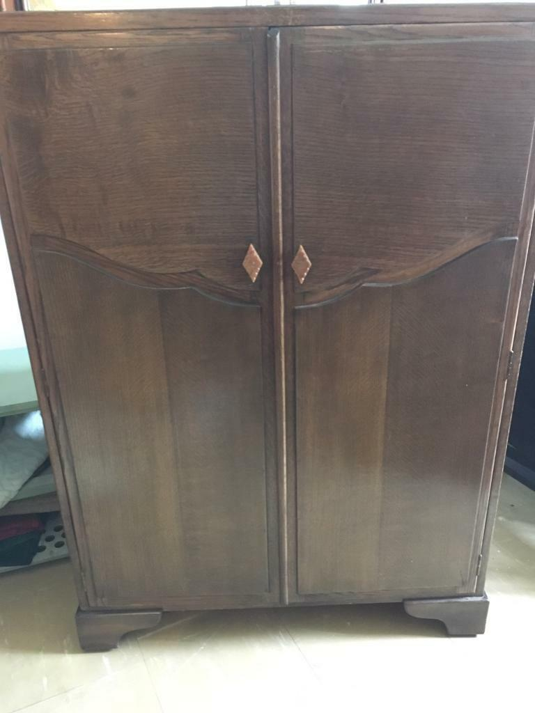 antique wardrobe cabinet 1940s in coalville leicestershire