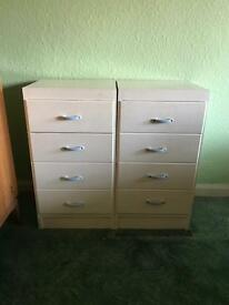 Two sets of chest of drawers
