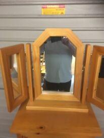 Pine 3 way mirror