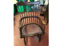 Antique Bentwood Captains Chair