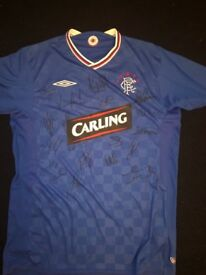 Signed rangers top full team 09/10 season