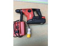 Hilti Te 7 A with a 36v 3.3ah battery and 110v charger in very good working condition