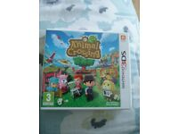 Nintendo 3DS Game - Welcome to Animal Crossing - Boxed and Perfect