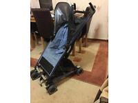Blue purple lightweight maxi cosy pushchair pram buggy in full working order
