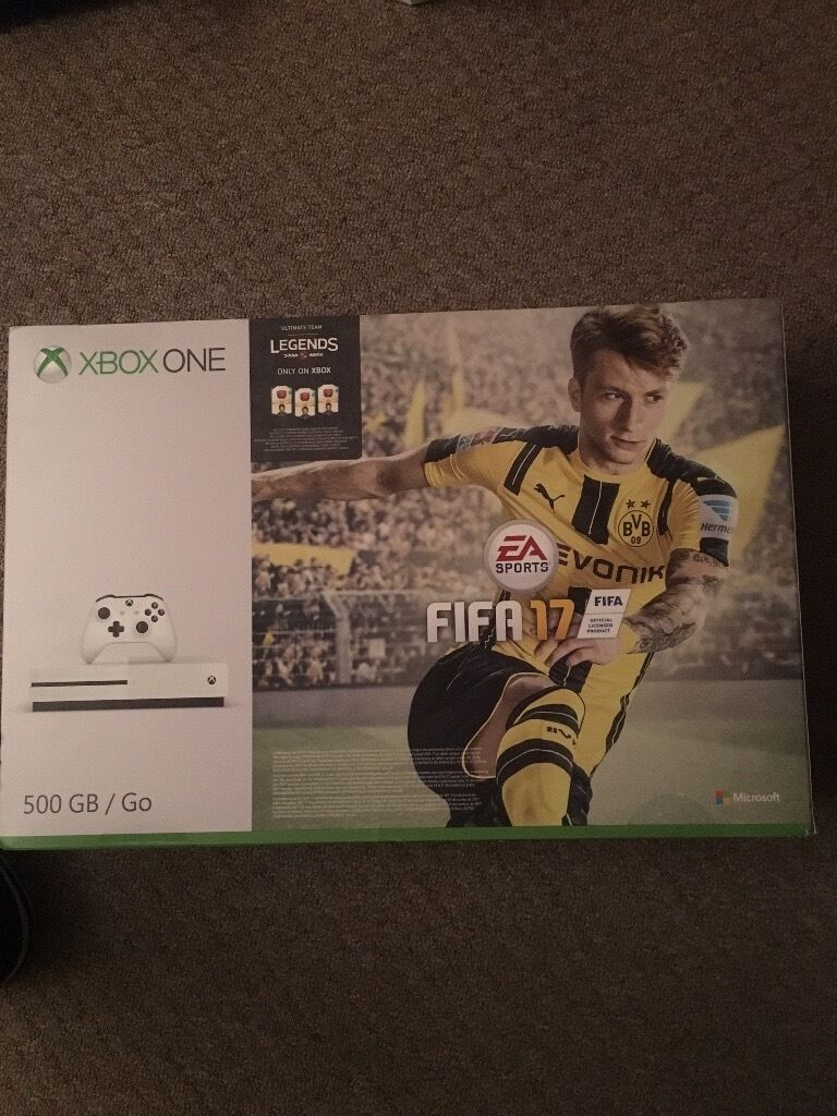 Brand new in the box Xbox one with FIFA 17
