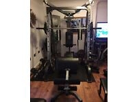 Smith Machine with 125kg Olympic Weight Set