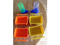 Bird feeder water containers