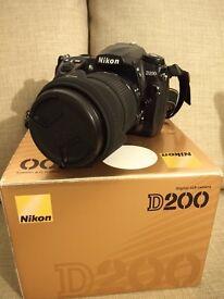 Nikon D200 with 18-200mm Lens