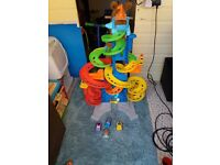 Fisher Price skyway with 4 cars