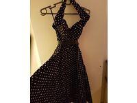 Halterneck vintage 50s/60s rockabilly dress
