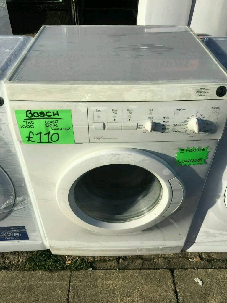 BOSCH 7KG 1000 SPIN WASHING MACHINE IN WHITE