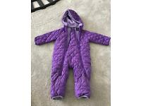 Baby All In-One Snow Suit Purple - 9-12months