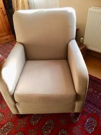 Arm Chair, Marks And Spencer, Neutral Colour, Mint Condition